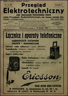Przegląd Elektrotechniczny 1927 nr 4