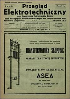 Przegląd Elektrotechniczny 1927 nr 14