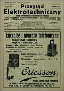 Przegląd Elektrotechniczny 1927 nr 15