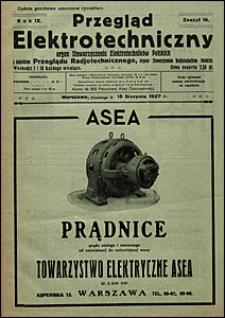 Przegląd Elektrotechniczny 1927 nr 16