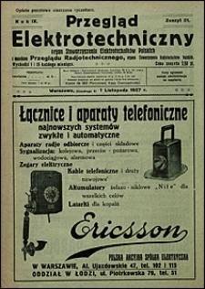 Przegląd Elektrotechniczny 1927 nr 21