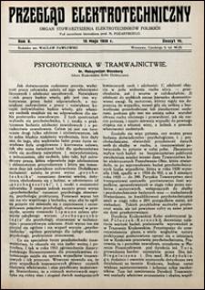 Przegląd Elektrotechniczny 1928 nr 10