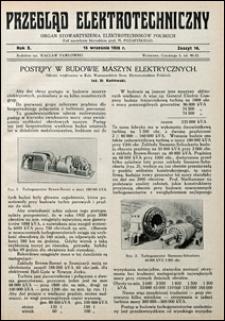 Przegląd Elektrotechniczny 1928 nr 18