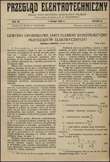 Przegląd Elektrotechniczny 1929 nr 3