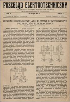 Przegląd Elektrotechniczny 1929 nr 4