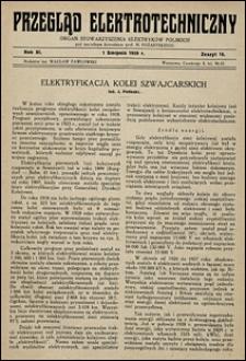 Przegląd Elektrotechniczny 1929 nr 15