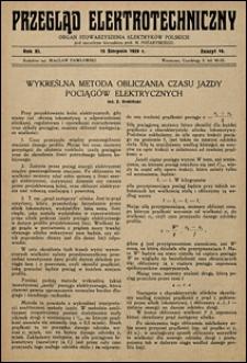 Przegląd Elektrotechniczny 1929 nr 16