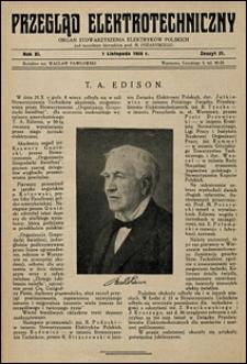 Przegląd Elektrotechniczny 1929 nr 21