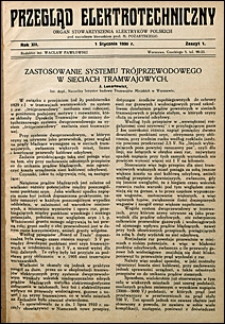 Przegląd Elektrotechniczny 1930 nr 1