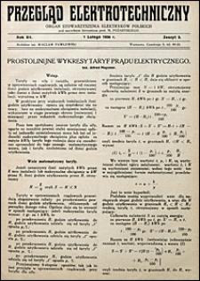 Przegląd Elektrotechniczny 1930 nr 3