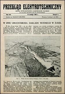 Przegląd Elektrotechniczny 1930 nr 4