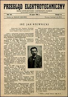 Przegląd Elektrotechniczny 1930 nr 14