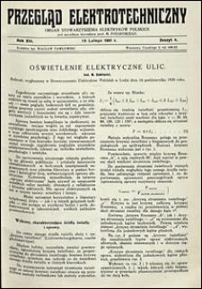 Przegląd Elektrotechniczny 1931 nr 4