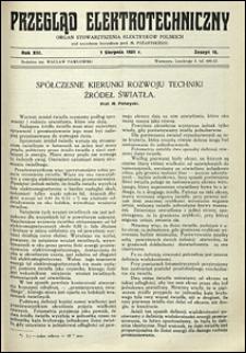 Przegląd Elektrotechniczny 1931 nr 15