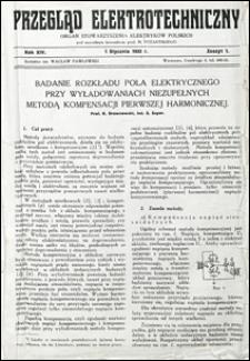 Przegląd Elektrotechniczny 1932 nr 1