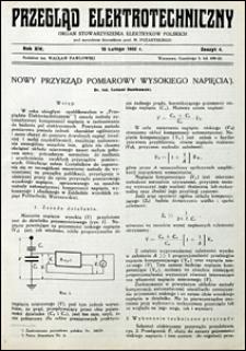 Przegląd Elektrotechniczny 1932 nr 4