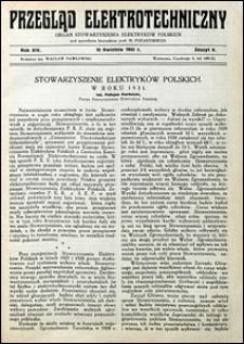 Przegląd Elektrotechniczny 1932 nr 8