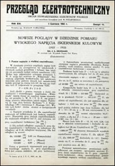 Przegląd Elektrotechniczny 1932 nr 11