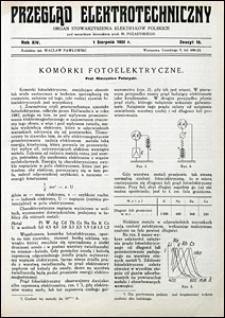 Przegląd Elektrotechniczny 1932 nr 15
