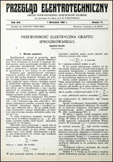 Przegląd Elektrotechniczny 1932 nr 17
