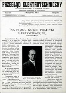 Przegląd Elektrotechniczny 1932 nr 19