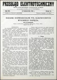 Przegląd Elektrotechniczny 1932 nr 20