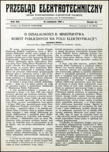 Przegląd Elektrotechniczny 1932 nr 22