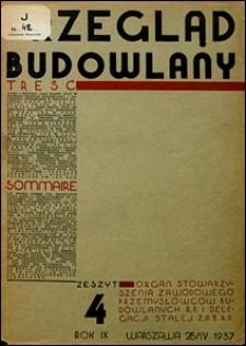 Przegląd Budowlany 1937 nr 4