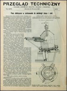 Przegląd Techniczny 1909 nr 39