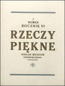 Rzeczy Piękne 1927 nr 5