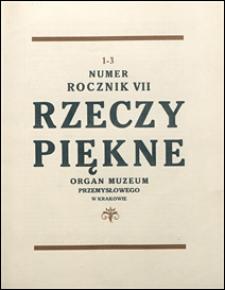 Rzeczy Piękne 1928 nr 1-3