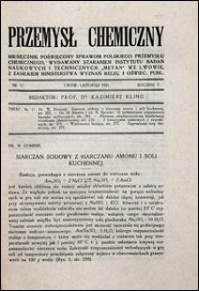 Przemysł Chemiczny 1921 nr 11
