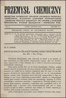 Przemysł Chemiczny 1922 nr 11