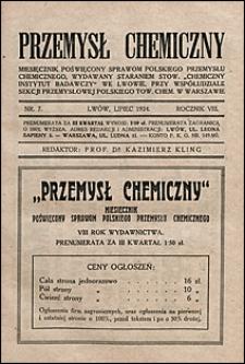 Przemysł Chemiczny 1924 nr 7