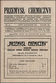 Przemysł Chemiczny 1924 nr 10