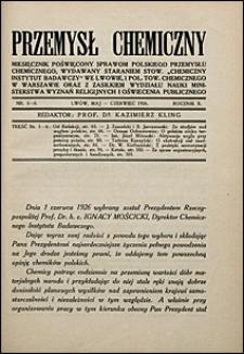 Przemysł Chemiczny 1926 nr 5-6