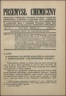 Przemysł Chemiczny 1926 nr 7-8
