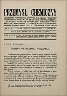 Przemysł Chemiczny 1926 nr 11-12