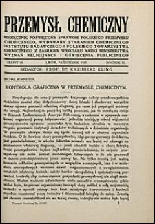 Przemysł Chemiczny 1927 nr 10
