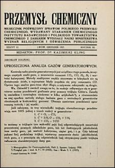 Przemysł Chemiczny 1927 nr 12