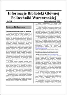 Informacje Biblioteki Głównej Politechniki Warszawskiej 1998 nr 3