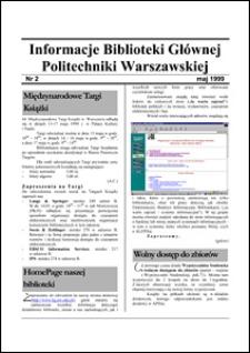 Informacje Biblioteki Głównej Politechniki Warszawskiej 1999 nr 2