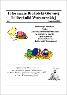 Informacje Biblioteki Głównej Politechniki Warszawskiej 2000 nr 2