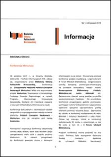 Informacje Biblioteki Głównej Politechniki Warszawskiej 2015 nr 3