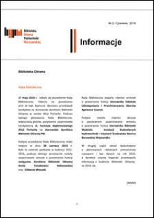 Informacje Biblioteki Głównej Politechniki Warszawskiej 2016 nr 2