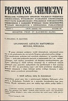 Przemysł Chemiczny 1928 nr 3