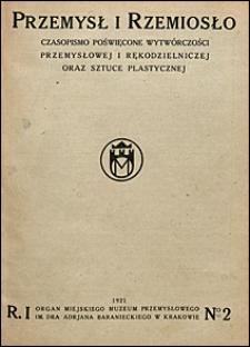 Przemysł Rzemiosło Sztuka 1921 nr 2