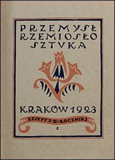 Przemysł Rzemiosło Sztuka 1923 nr 1-2