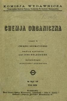 Chemia organiczna. Cz. 2, Związki aromatyczne
