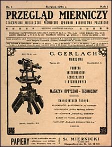 Przegląd Mierniczy 1924 nr 1